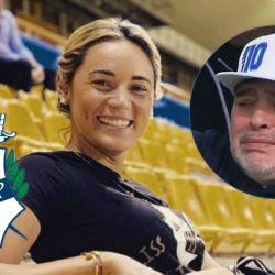 Rocío Oliva fue a ver a Diego en su presentación como DT del Lobo