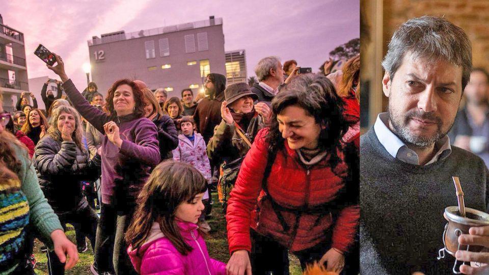 Movida. El viernes se volvió a repetir la imagen de militantes cantando contra Rodríguez Larreta.