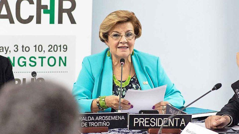 Presidenta. Arosemena describe la labor actual de la CIDH.