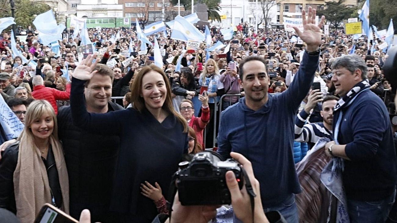 """El día de su cumpleaños, Vidal tuvo su propia plaza del """"Sí"""" en Morón"""
