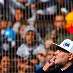 Photos from Diego Maradona's unveiling as the new coach of Club de Gimnasia y Esgrima La Plata.