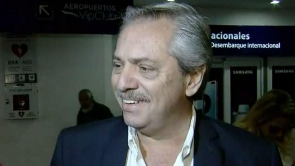 Alberto Fernández, cuando viajó a España.