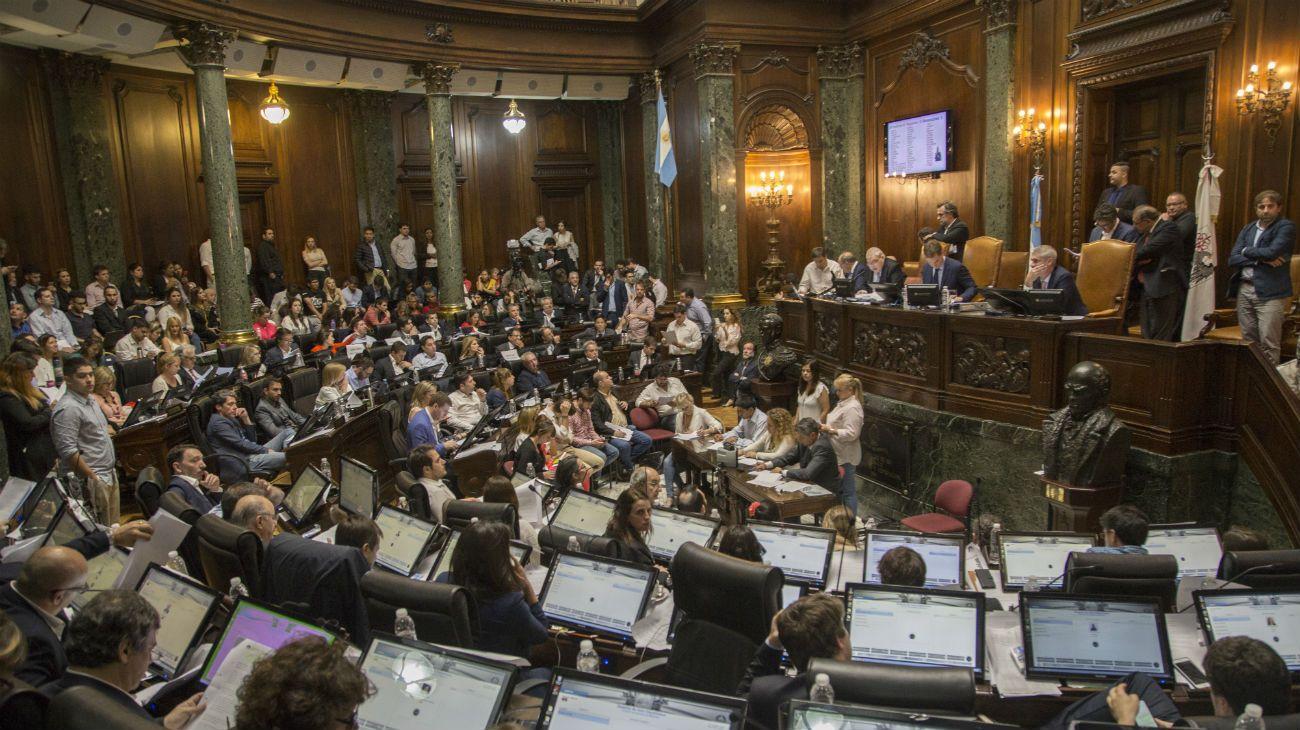 La cámara de Diputados de la ciudad de Buenos Aires.