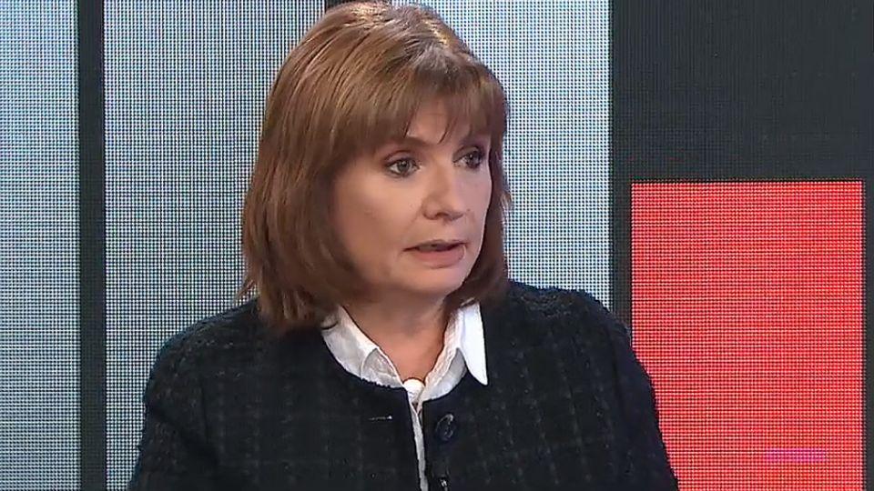 Patricia Bullrich, exministra de Seguridad.