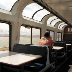 Las ventanas panorámicas en el vagón comedor ofrecen unas vistas magníficas.