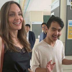 Angelina Jolie y su hijo Maddox