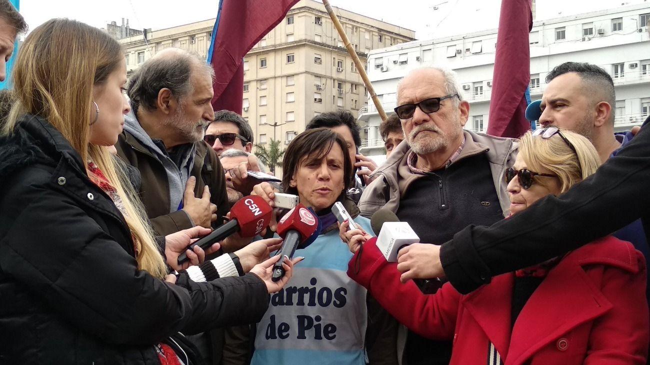Silvia Saravia, coordinadora nacional del Movimiento Barrios de Pie.