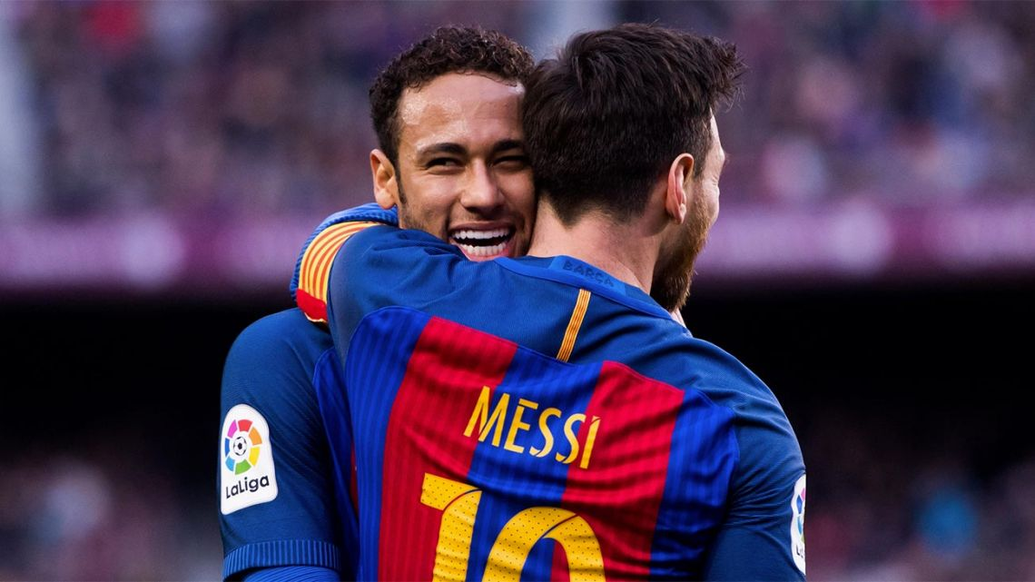 Lionel Messi and Neymar, pictured during the Brazilian's spell with Barcelona.