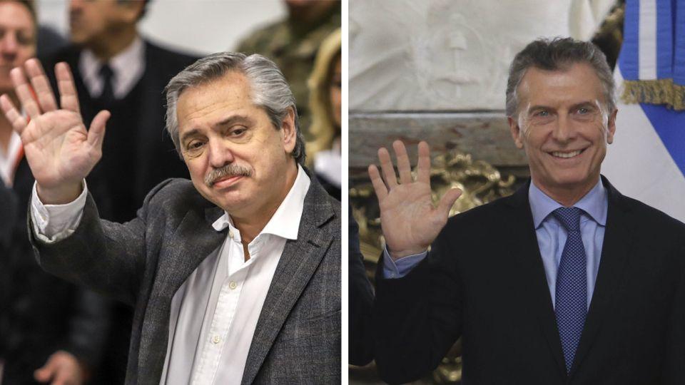 Alberto Fernandez y Mauricio Macri