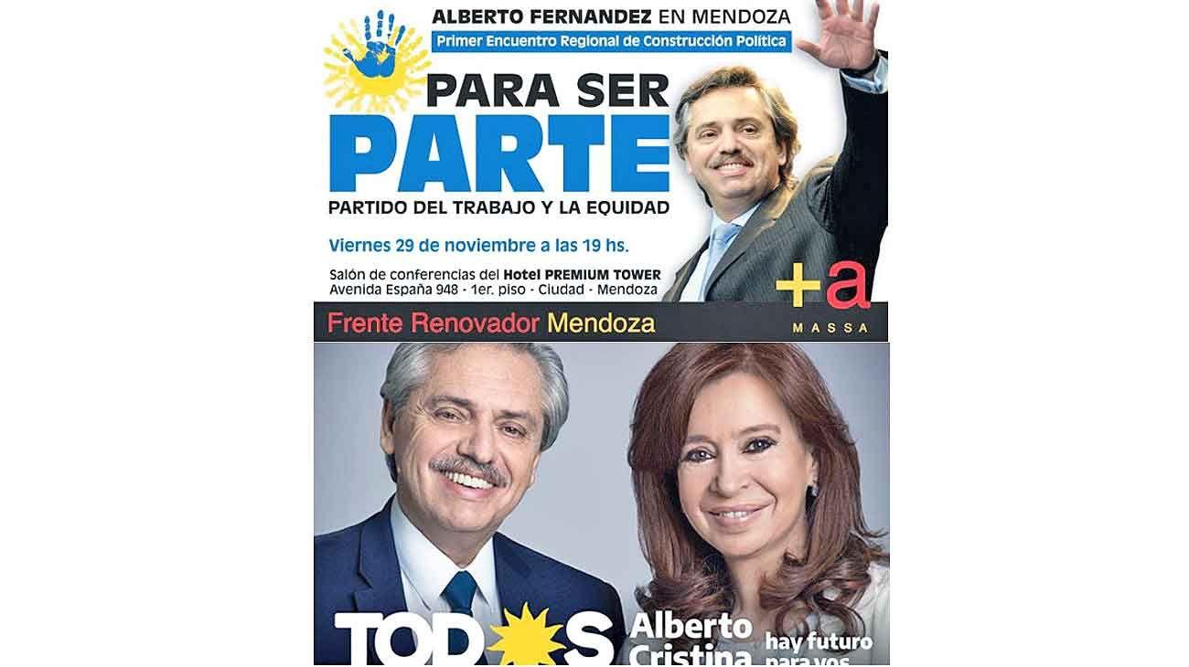 Con Massa, casi 10 años de A. Fernández. Con Cristina, casi 10 años antes, y ahora.