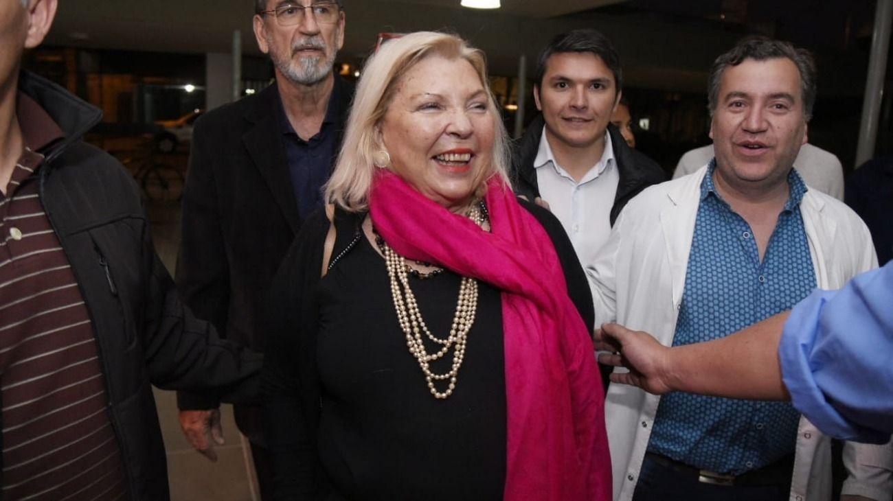 """La diputada Elisa Carrió viajó a Corrientes para presentar su libro """"Vida""""."""
