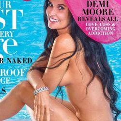 Demi Moore, desnuda en la edición de octubre 2019