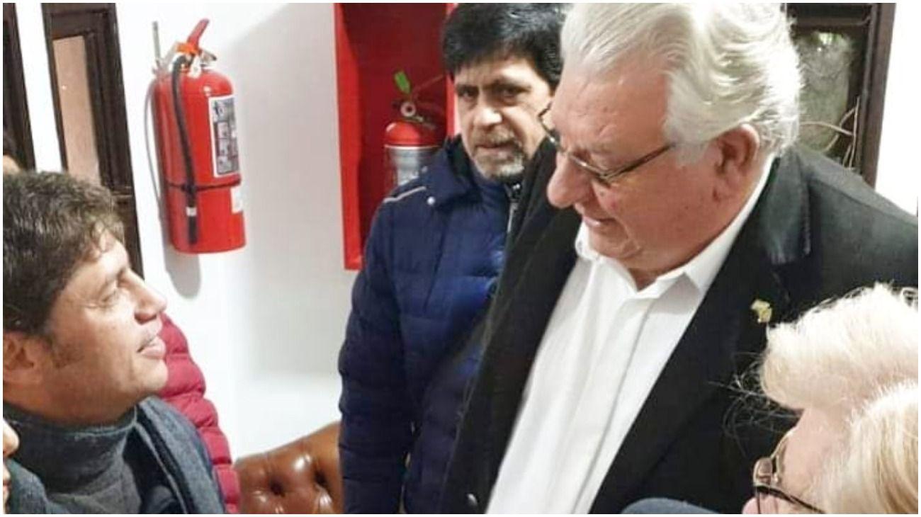 Axel Kicillof, reunido con Oscar Ostoich.