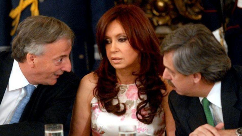 Néstor Kirchner, Cristina Fernández de Kirchner y Alberto Fernández.