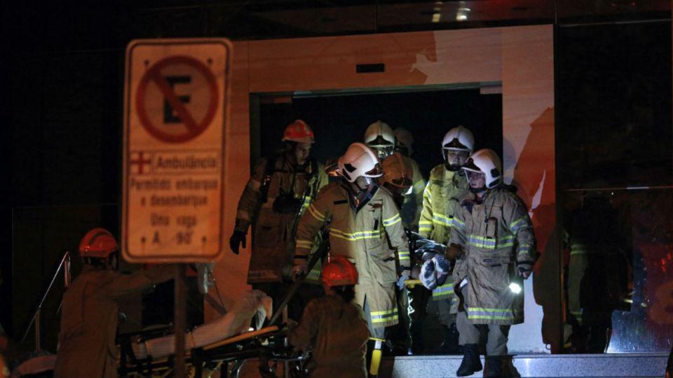 Incendio en un hospital de Brasil.
