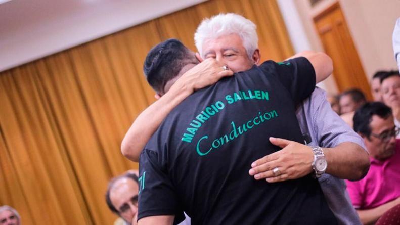 EN LA MIRA. Mauricio Saillén y Gabriel Suárez, los líderes de Surrbac y Luz y Fuerza.