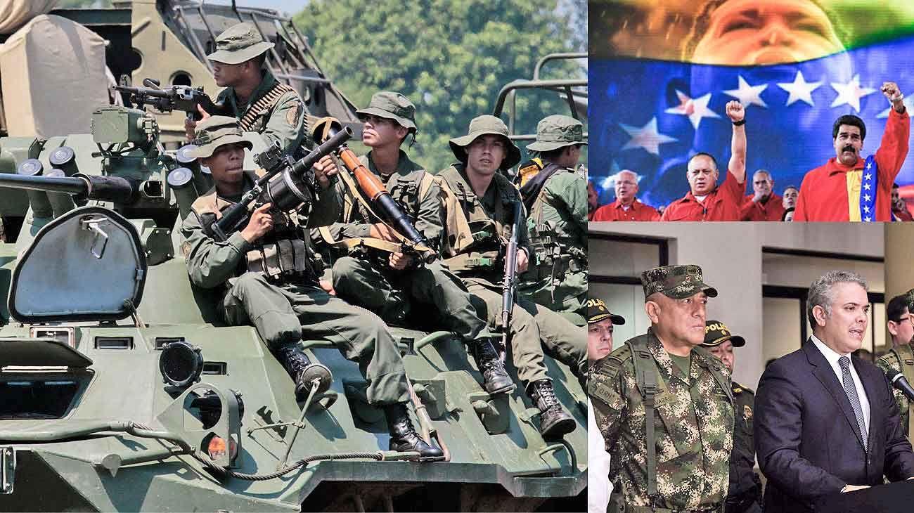 Tambores de guerra. La Guardia Nacional venezolana fue desplegada en Táchira, un estado fronterizo con Colombia. Duque anunció que llevará a la ONU pruebas del nexo con la guerrilla.
