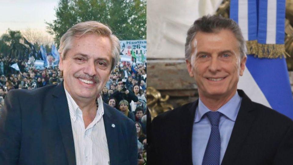 ELLOS. Si Alberto derrota a Mauricio en octubre sería el primer presidente peronista que recibe el gobierno de un no peronista.