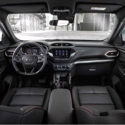 Interior del nuevo Chevrolet Trailblazer que se lanzó en el mercado chino.