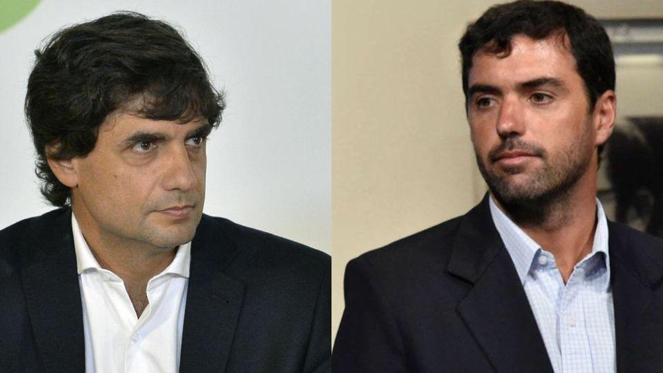 El ministro de Hacienda, Hernán Lacunza, y el titular de ANSES, Basavilbaso.