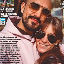 Abel Pinto y su novia Mora Calabrese