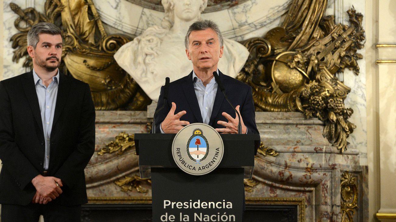Mauricio Macri y Marcos Peña.