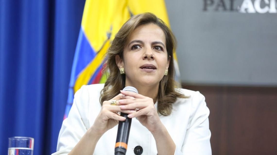 Ecuador's Interior Minister María Paula Romo.