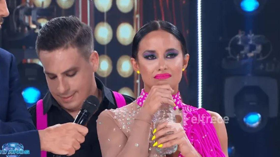 Tras caerse, Lourdes Sánchez lloró al tener uno de los puntajes más bajos del Bailando
