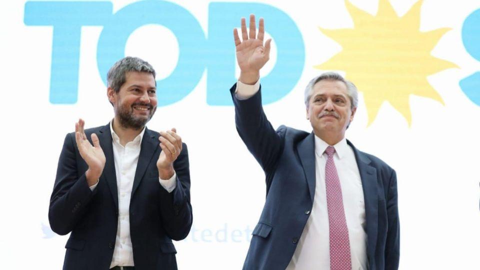 Alberto Fernández y Matías Lammens