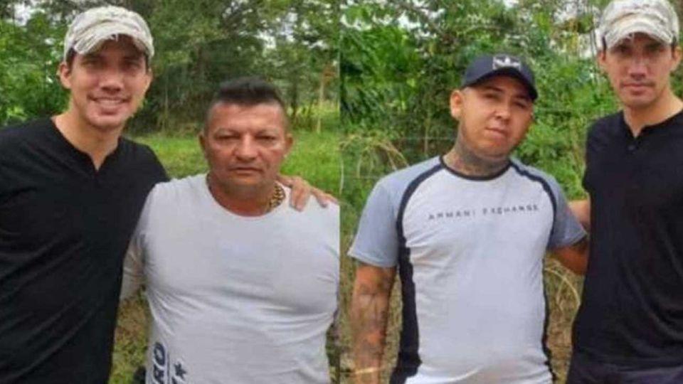 """Juan Guaidó con alias """"Brother"""" y """"Nandito"""", jefes de Los Rastrojos."""