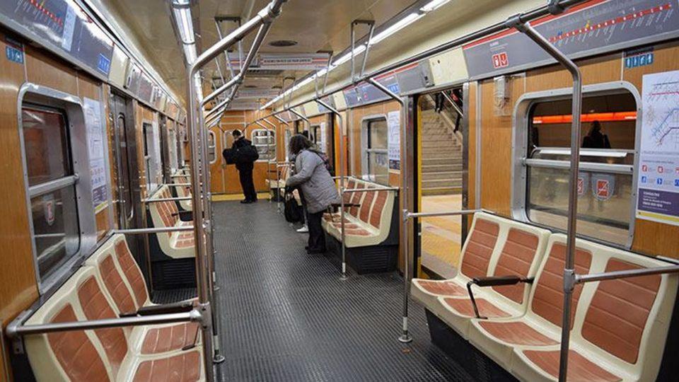 Los vagones de la línea B.