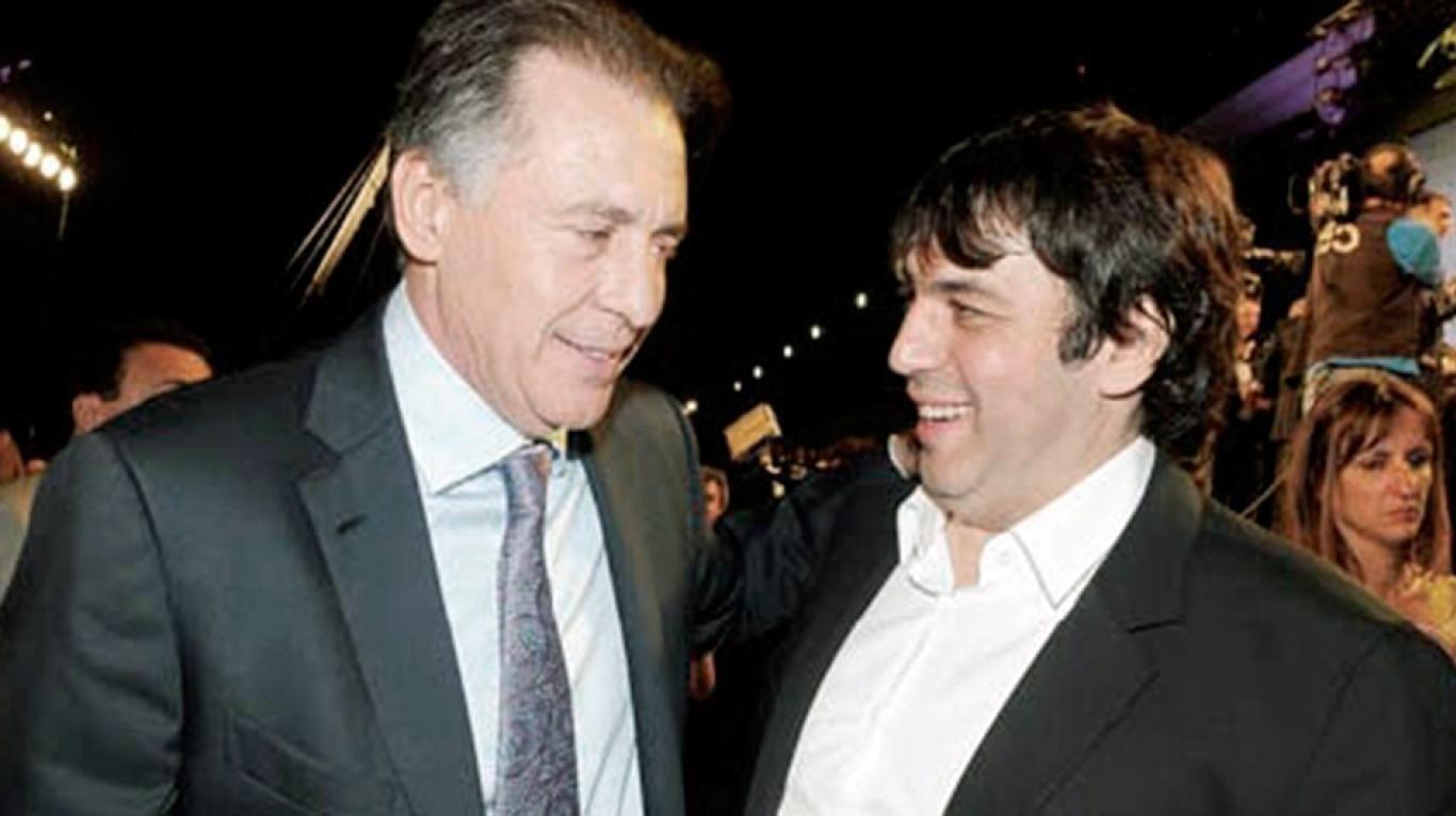El empresario Cristóbal López y su socio, Fabián De Souza.