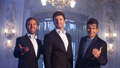 Federico Picone, Sebastián Russo y Alejandro Falcone, integrantes del grupo lírico pop HÉROE.