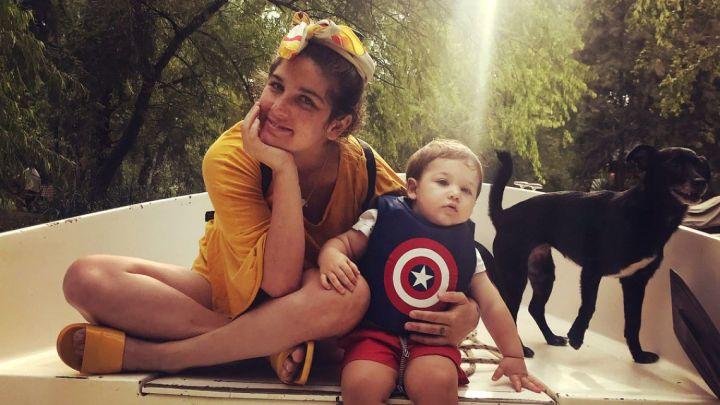La foto de Juana Repetto y su nuevo novio junto a su hijo