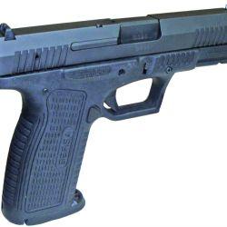Bersa develó la incógnita, presentando el prototipo de su BP de alta capacidad. Con armazón de polímero y sistema striker fired, posee una capacidad de 17+1 cartuchos 9mm.