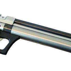 Santos Vega, fábrica de armas neumáticas, presentó su novedosa línea de productos de PCP, entre los que se encontraba la pistola modelo Poderosa, la que detallamos en la nota de la página 40 de esta edición.