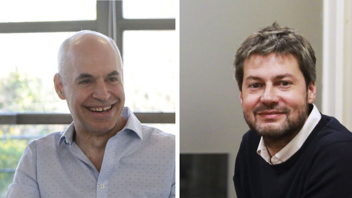 Horacio Rodríguez Larreta (left) and Matías Lammens, the two frontrunners for the election to become next Buenos Aires City mayor.