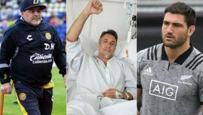 Maradona, Batistuta y Jacobson, el jugador de los All Blacks que se pierde el Mundial de rugby por conmoción cerebral.