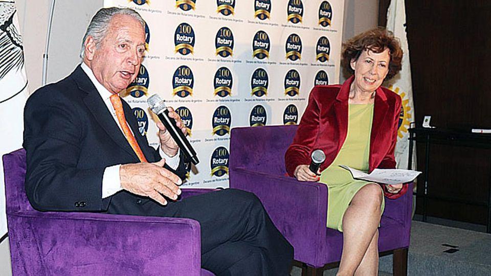 Vocero. Daniel Funes de Rioja, esta semana en el Rotary Club.