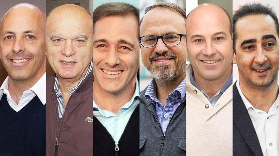 Alcaldes. Ducoté (Pilar), Grindetti (Lanús), Garro (La Plata), Valenzuela (Tres de Febrero), Molina (Quilmes) y Tagliaferro (Morón).