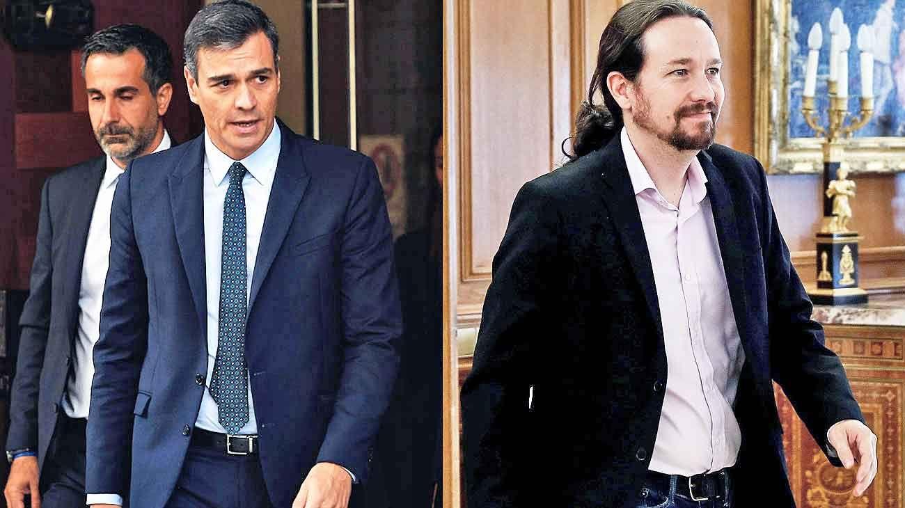Egos. La fuerza de Pablo Iglesias rechazó la magra oferta del líder del socialismo para integrar su gabinete.