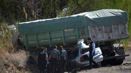 El accidente en la Ruta 40 dejó cinco muertos.