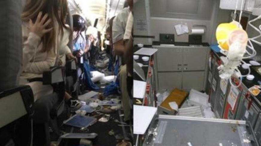 Turbulencias en un vuelo de Aerolíneas Argentinas.