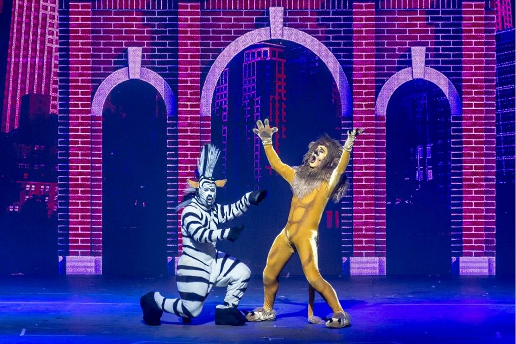 MUSICAL. Más de 100 mil espectadores ya vieron esta propuesta que combina música y humor, y cuenta las aventuras de Marty, Alex, Gloria y Melman.