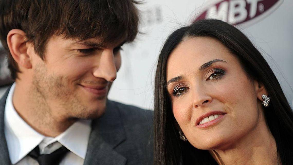 Demi Moore contó que los tríos sexuales con Ashton Kutcher causaron el fin de su matrimonio