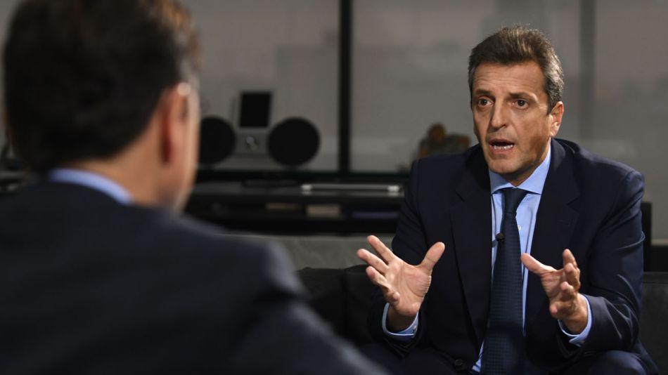 Sergio Massa, en la entrevista con Jorge Fontevecchia.