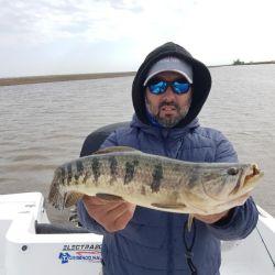 La pesca fue muy difícil al principio, hasta que le encontramos la vuelta para lograr muchas taruchas de todos los tamaños.