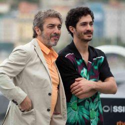 Ricardo Darín y su hijo, el Chino, en San Sebastián
