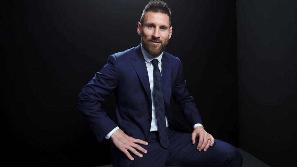 Leo Messi y Anto Roccuzzo en los  The Best FIFA Awards