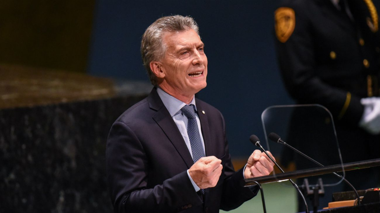 Mauricio Macri en las Naciones Unidas.